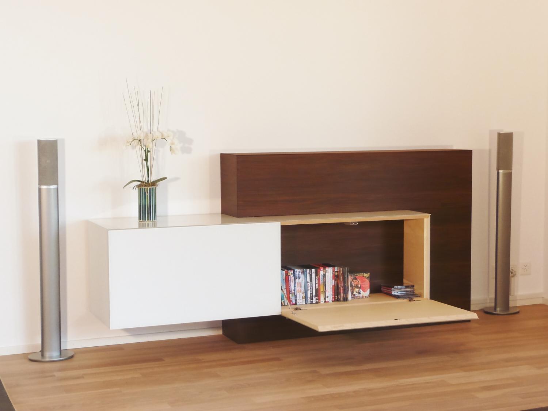 tv m bel in verschiedenen materialien schreinerei graf. Black Bedroom Furniture Sets. Home Design Ideas